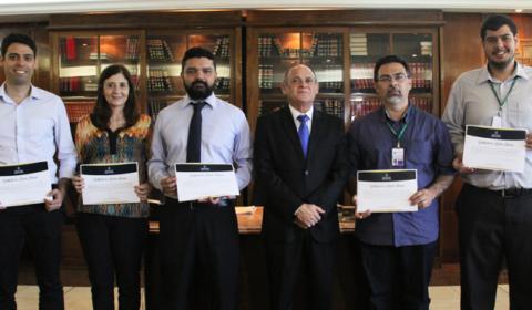 Servidores do Judiciário são premiados  pela criação de práticas de gestão