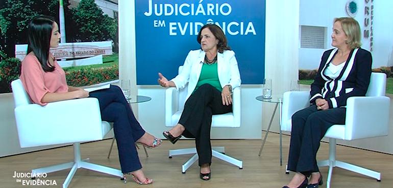 Juízas Marlúcia Bezerra e Adriana da Cruz Dantas são as entrevistadas