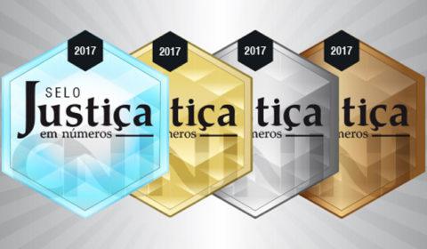 """TJCE conquista Prata do """"Selo Justiça em Números – 2017"""""""