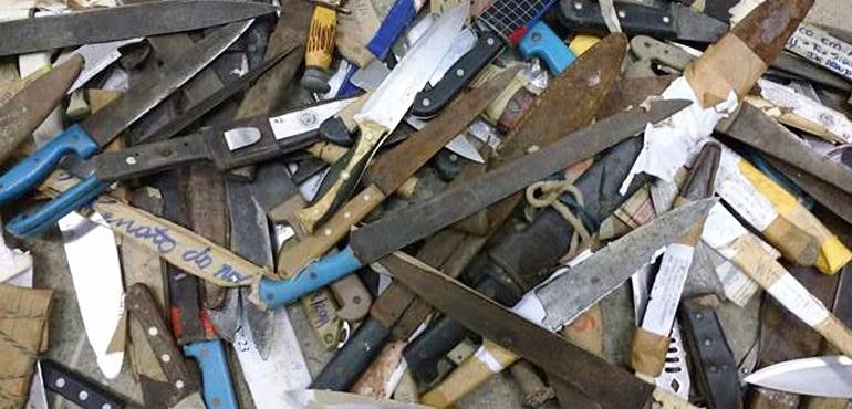 Poder Judiciário envia 3.500 armas brancas para incineração
