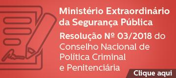 RESOLUÇÃO DO CONSELHO NACIONAL DE POLÍTICA CRIMINAL E PENITENCIÁRIA