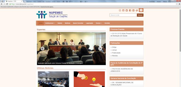 Página eletrônica do Nupemec ganha novo  ambiente e facilita a navegabilidade de usuários