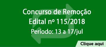 Concurso de Remoção regido pelo Edital nº 115/2018