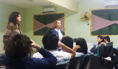 Estudantes de escola pública de Fortaleza participam de oficina sobre combate à violência contra a mulher
