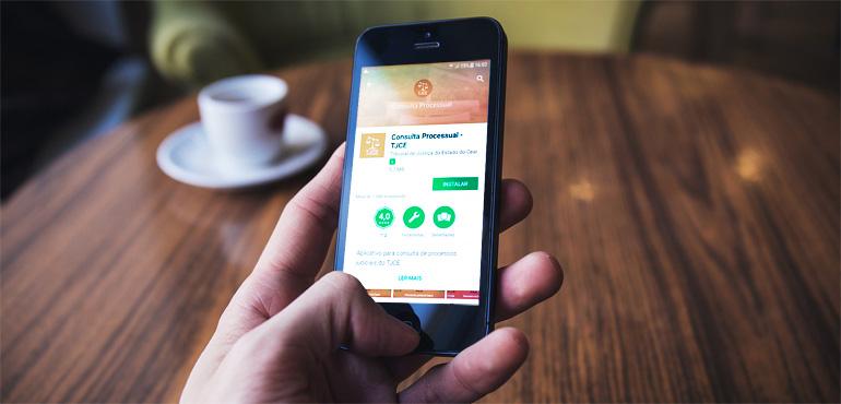 TJCE lança aplicativo para consultas processuais por meio de celular