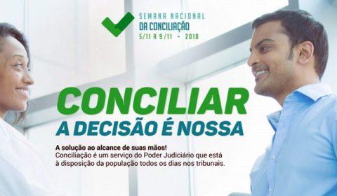 Poder Judiciário promove 13ª Semana da Conciliação de 5 a 9 de novembro