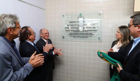 Inauguração do novo fórum de Itapajé