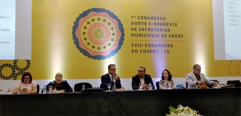 Coordenadora do Comitê de Saúde participa do 7º Congresso Norte e Nordeste de Secretarias Municipais de Saúde