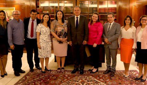 Presidente do Tribunal de Justiça recebe Comissão Parlamentar de Saúde