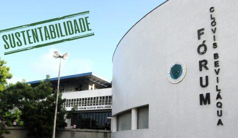 Redução no consumo de água potável chega a 70% no Fórum Clóvis Beviláqua