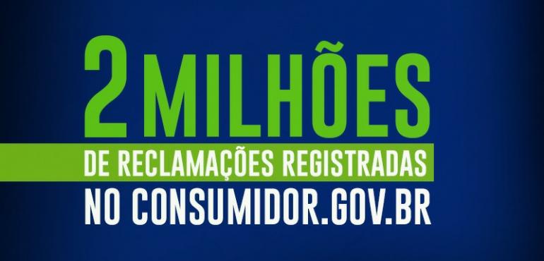 Consumidor.gov.br atinge marca de 2 milhões de reclamações registradas