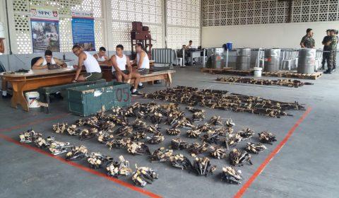 Assistência Militar entrega mais 844 armas ao Exército Brasileiro para destruição