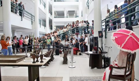 Abertura da exposição que homenageia Clóvis Beviláqua emociona servidores e visitantes do Fórum