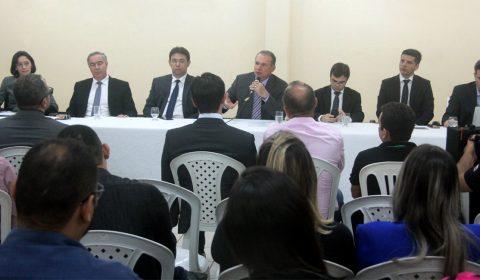 Presidente do TJCE visita Canindé, anuncia investimentos e detalha projeto de modernização do Judiciário