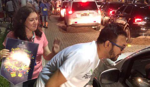 Campanha de combate à violência contra mulher no Pré-Carnaval prossegue em Fortaleza