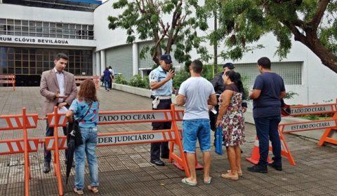 Tribunal de Justiça restringe acesso a unidades e fóruns, incluindo o Clóvis Beviláqua, em Fortaleza