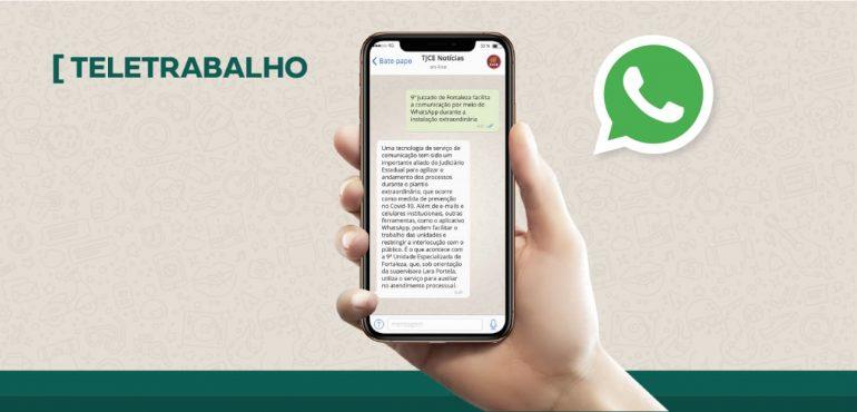 9º Juizado de Fortaleza facilita comunicação por meio de WhatsApp durante plantão extraordinário