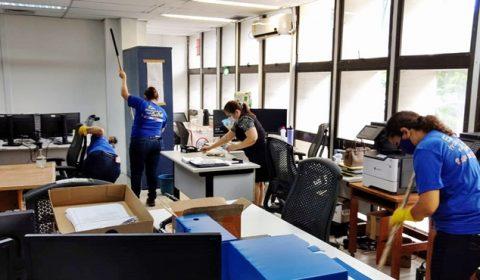 Iniciadas ações de higienização e sanitização no Fórum Clóvis Beviláqua