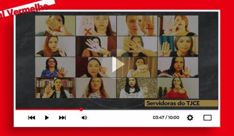 """Tribunal de Justiça do Ceará lança vídeo da campanha """"Sinal vermelho contra a violência doméstica"""""""
