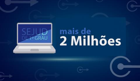 Sejud de 1º Grau realiza mais de 2 milhões de atos processuais em um ano de funcionamento