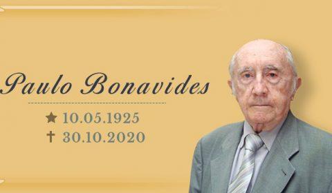 Nota de pesar pelo falecimento do professor Paulo Bonavides