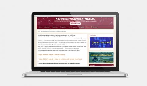 Nova página do TJCE com contatos e dias de atendimento durante a pandemia ultrapassa 20 mil acessos. Vídeo explica como acessar