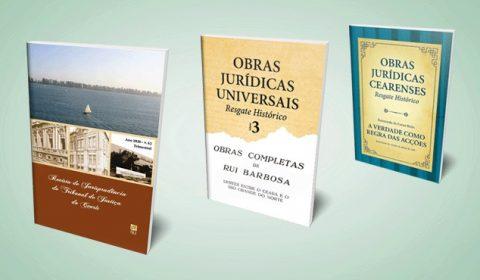 Conselho Editorial do TJCE lança livros de Farias Brito e Rui Barbosa e o volume 62 da Revista de Jurisprudência