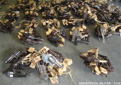 Assistência Militar do Poder Judiciário encaminha mais de 9 mil armas para destruição